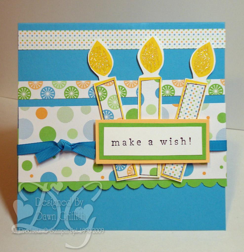Pop Up Birthday Cake Card With Dawn