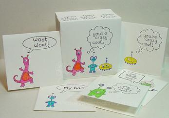 3x3 note card box