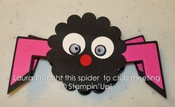 The peppermint patty spider laura brought to club night