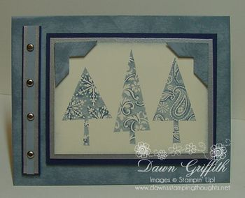 Patterned pines Night of Navy and Bordering Blue