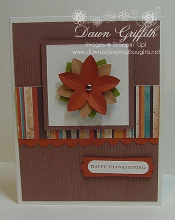 Happy Thanksgiving 5 petal punch card