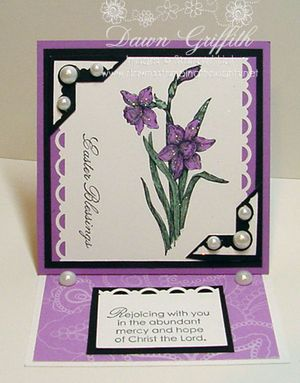 Easel card opened front Dawn Griffith