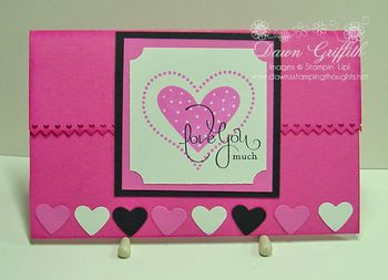 Valentine card with Paper bag insert
