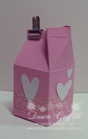Mini milk carton Valentines
