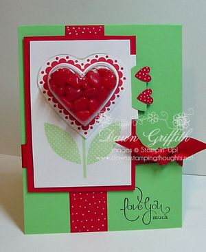 Heart treat cups card