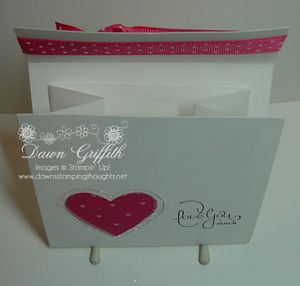 Love you much gift card holder opened