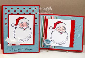 Side by side Santa cards