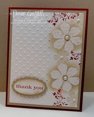 Thank you embossing  resist card
