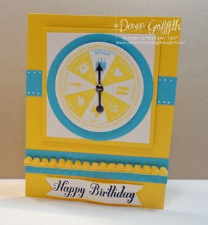 Happy Birthday Spinner card