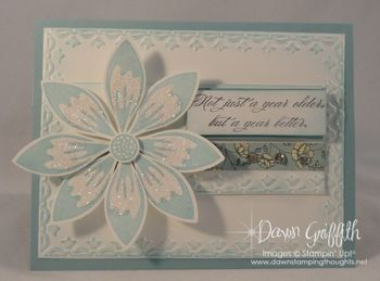 Birthday Petals card front