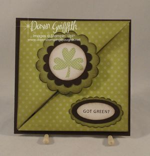 Got Green tri fold pocket card #1