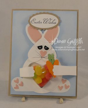 Happy Easter bunny card front