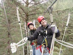 Jackie & Ken Juneau AK zipline with Jessie and Rich