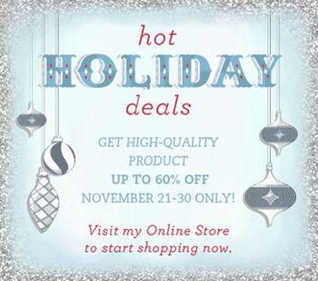 Hot Holiday Deals  Online Extravaganza Nov 21- Nov 30, 2011