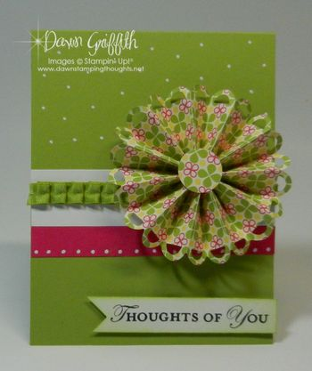 Thoughts of you Designer Rosette card