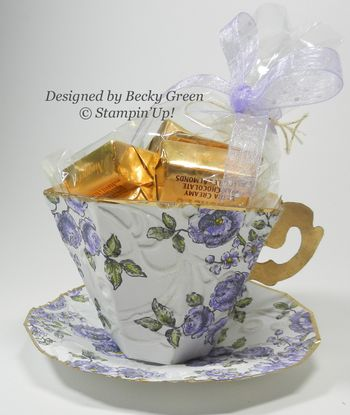 Paper Tea cup and saucer by Becky Green