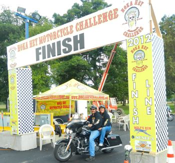 Honey and Me at the finish line