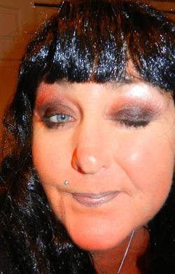 Smokey eyes upclose