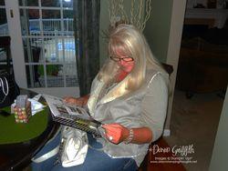 Linda looking at Catalog