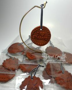 I Heart Stamps Cinnamon Ornaments for club girls