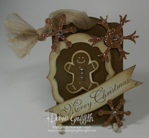 Gingerbread man Dazzle tag