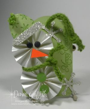 Snowman Tag with Sweater trim