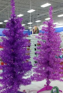 Pink and Purple Christmas Trees