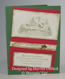 Christmas card from Harriet Galleck