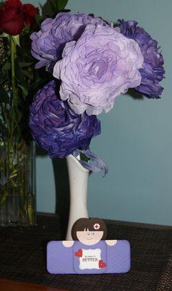 Lori Sheteron Flowers with  card
