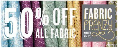 Fabric Frenzy until March 31, 2013