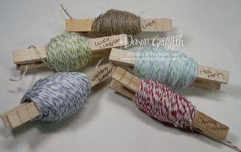 Organizing Bakers Twine and  Linen Thread