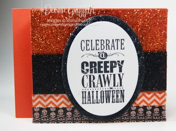 Creepy Crawly Sparkly Halloween card