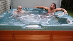 The boys in the Hot tub
