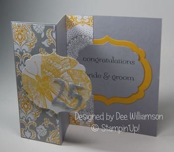 25th Anniversary card from Dee Williamson inside