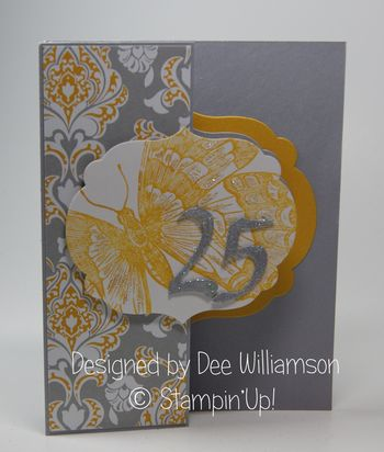 25th Anniversary card from Dee Williamson Front