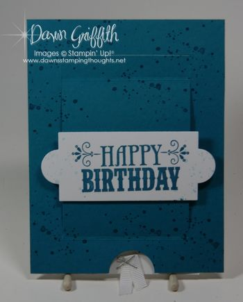 Pop Down slider Birthday card from Pat opened