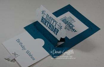 Pop Down slider Birthday card from Pat Front