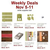 Weekly Deals  Nov 5 - Nov 11, 2013