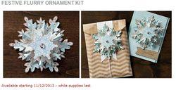 Festive Flurry Ornament kit 10