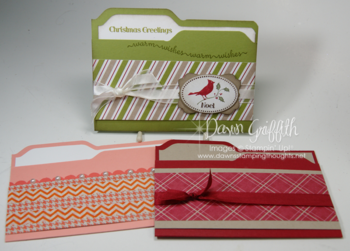 File folder card with insert