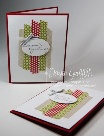 Seasons Greetings Washi Tape cards