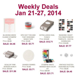 Weekly Deals until January 27,2014