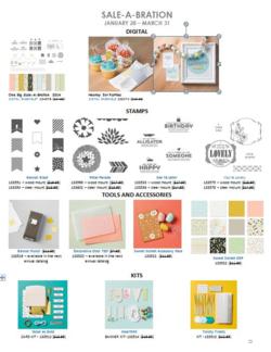 2014 Sale-a-Bration items