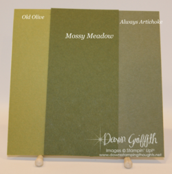 Mossy Meadow Color Comparisons