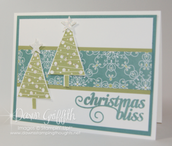 Christmas Bliss  card for Stampers club night