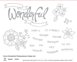 You're Wonderful Photopolymer stamp set # 139158