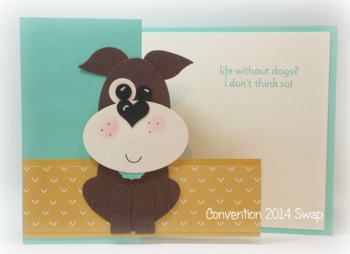 Doggie card swap from Convention 2014 for Dawn Griffith #1