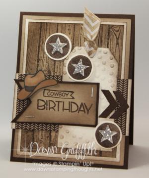 Cowboy birthday card for hubby #2