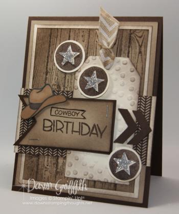 Cowboy birthday card for hubby #1