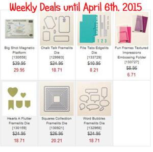 Weekly Deals Until April 6, 2015